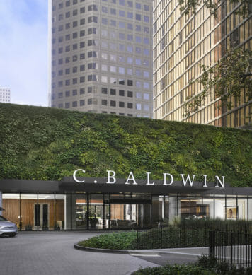 Main entrance and drive way of C Baldwin Hotel
