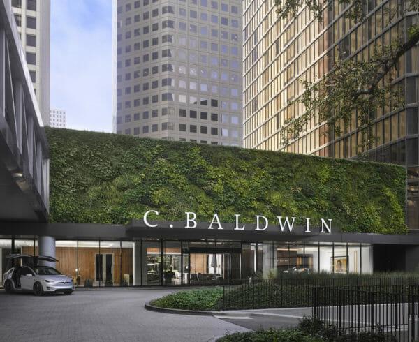 Main entrance and drive way of C Baldwin Hotel